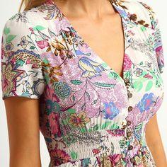 SheIn Multicolor Floral Print Button Split Front Flare Beach Wear Boho Maxi Dress Women Short Sleeve V Neck Long Dress Simple Dresses, Cute Dresses, Casual Dresses, Girls Dresses, Summer Dresses, Maxi Dresses, Casual Outfits, Men Casual, Formal Dresses