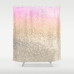 GOLD PINK Shower Curtain by Monika Strigel | Society6