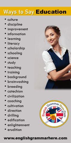 English Vocabulary Words, English Phrases, Learn English Words, English Grammar, English English, English Idioms, Essay Writing Skills, English Writing Skills, Writing Words