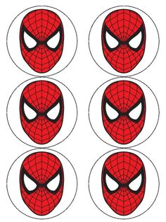 Dramatic image with free printable cupcake wrappers and toppers with spiderman