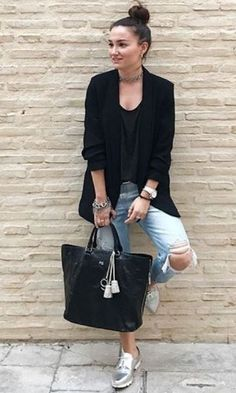 40+ How Wear Silver Shoes Outfits Ideas 21