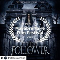 #Repost @thefollowermovie (@get_repost)  The Follower will be screened at Macabre Faire Film Festival (New York) on January 2018. Tickets available at : https://www.brownpapertickets.com/event/3162256 Check out the trailer here : https://youtu.be/3acdNiD9kMc Thanks for this Official Selection! #film #trailer #movie #cinema #feature #horror #horrorfan #paranormal #ghost #ghosts #indie #indiefilm #horrorfilm #horrorfan #halloween #halloween2017