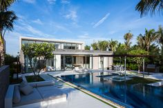 Naman Residence Tropical Beachfront Villa in Vietnam Has an Inviting Rooftop Lounge Space