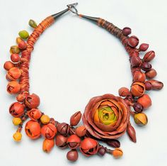 Floral Textile and Polymer Clay Jewelry - The Beading Gem's Journal