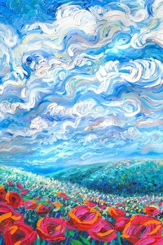 Cypresses by Vincent van Gogh - Famous Art - Handmade Oil Painting on Canvas — Canvas Paintings - Fushion News Van Gogh Art, Impressionist Art, Painting & Drawing, Finger Painting, Blue Painting, Painting Abstract, Aesthetic Art, Art Inspo, Canvas Wall Art