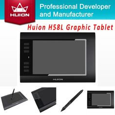 """66.49$  Watch here - http://alivls.worldwells.pw/go.php?t=32213687528 - """"Hot Sale Huion H58L 8'' x 5"""""""" 2048 Levels Digital Pen Tablets Graphic Painting Tablet Black USB Professional Kids Drawing Tablets"""" 66.49$"""