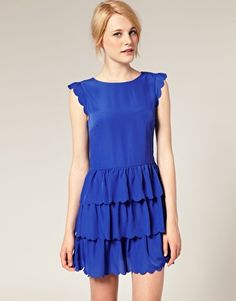 ASOS Dress with Scallop Detail -- On Sale for $26.96 (Also comes in Pink)