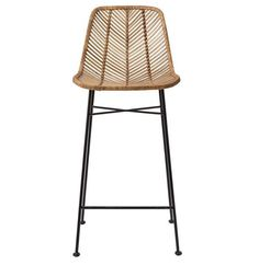 We know that good things happen when rattan meets metal in a comfy and attractive seating unit. They're happening here, with the Broader Rattan Bar Stool, making an entertaining counter awash with a li. Find the Broeder Rattan Bar Stool, as seen in the Wicker Bar Stools, Rattan Stool, Modern Bar Stools, Bar Chairs, Office Chairs, Room Chairs, Dining Chairs, Chaise Bar, Modern Loft