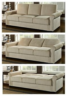 Beautiful and made to last, the Serta Dream Thomas Convertible Sofa - Light Brown features three cushions, a soft upholstery in an airy ash-brown,. My Living Room, Home And Living, Small Space Living, Small Spaces, Up House, My Dream Home, Home Projects, Home Furniture, Furniture Logo