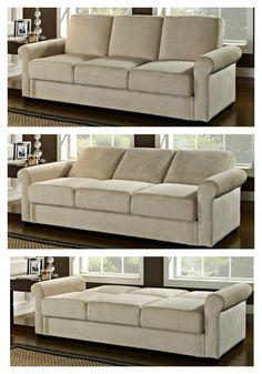 Serta Dream Thomas Convertible Sofa - Light Brown