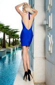 To get on trend with winter blues, the Blue Horizon dress is sure to make a lasting impression at any Christmas party with its sparkling diamante trim and stunning back reveal. This dazzling cobalt blue dress is simple, elegant and ideal for those who want to make a statement in both colour and style.