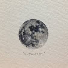 watercolour moon -