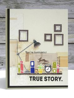 True Story created by Jingle for the Simon Says Stamp Wednesday challenge (Anything Goes) August 2014