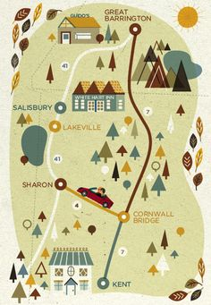 I love these illustrated maps ::::   Tesla by Sol Linero, via Flickr
