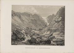 Norge fremstillet i Tegninger - Joachim Frich - Bondhuusdalen og Maurangerbræen. jpg (6080×4360)
