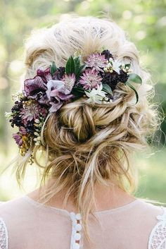 Flower Hair Pieces, Flowers In Hair, Fresh Flowers, Trending Hairstyles, Boho Hairstyles, Ponytail Hairstyles, Brides And Bridesmaids, Bridesmaid Hair, Surprise Wedding