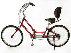 Ergonomic Bicycle  http://www.bicycleman.com/crank-forward-bikes/day-6-bicycles/images/day-6-Dream-S-burgundy.jpg