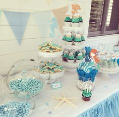 Under The Sea / Mermaid Party Pastry Table