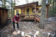 The adventure writer Tim Cahill shares his 500 square foot cabin