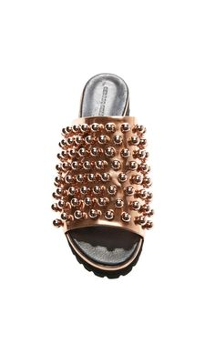 Copper Embellished Sandal by Cédric Charlier for Preorder on Moda Operandi