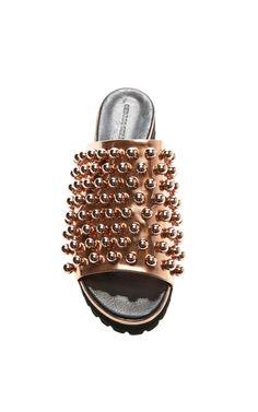 Copper Embellished Sandal by Cédric Charlier for Preorder on Moda Operandi