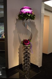 Floral display from Landerhaven by Executive Caterers   July 2015 Cleveland bridal show   As seen on TodaysBride.com