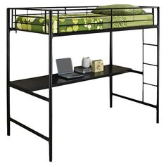 Found it at Wayfair - Metal Workstation Bunk Bed Where was this when my kids went to college!