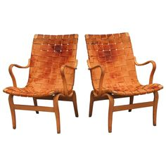 Pair of Bruno Mathsson Eva Chairs, Sweden, 1965 Antique Chairs, Vintage Chairs, Cool Furniture, Outdoor Furniture, Fulton Street, Outdoor Chairs, Outdoor Decor, Modern Chairs, Sweden