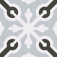 Carrelage imitation ciment croix grise et noire 20x20 cm LLAGOSTERA - 2m²
