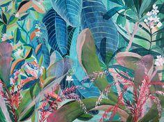 Blaue Dschungel - Illustration - Giclée-Druck