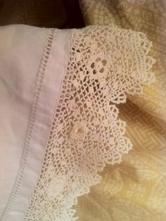 antique crochet work