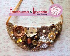 #Collar #complementos #flores #dorado