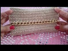 Crochet Clutch, Crochet Handbags, Crochet Purses, Crochet Home, Diy Gifts, Purses And Bags, Crochet Patterns, Arts And Crafts, Knitting