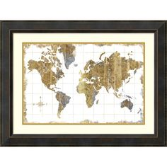 Art effects old world map blue by wild apple portfolio framed michael mullan gilded map framed art print 32 x 24 inch sciox Gallery