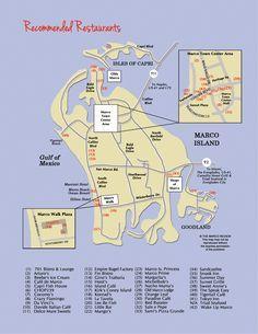 Restaurant Map of Marco Island, Florida restaurants. Visit Florida, Florida Vacation, Florida Travel, Florida Beaches, Vacation Trips, Vacation Ideas, Florida 2017, Beach Vacations, Honeymoon Ideas