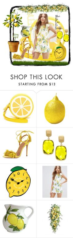 """""""When Life Gives You Lemons..."""" by sylvia-cameojewels ❤ liked on Polyvore featuring Shiraleah, Aquazzura, Effy Jewelry, Moon River, Abbiamo Tutto, Frontgate and lemons"""