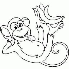 Hanging Monkey Coloring Page Art Schoolin Pinterest Monkey