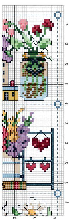 Schema punto croce Quadro Country 8