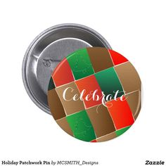 Holiday Patchwork Pin