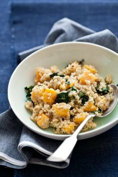 QUINOA, BUTTERNUT SQUASH, AND KALE SALAD