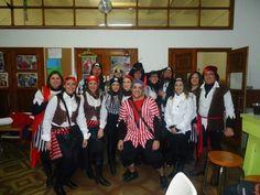 """Disfraz de grupo """"Piratas"""".  Sábado, 9 de febrero de 2013."""