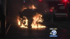 Suspects light man's car on fire after gas station dispute