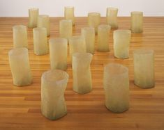 """Sculpture by Eva Hesse, titled """"Repetition Nineteen III"""" and exhibited at the Jewish Museum NY. Always loved Eva Hesse. Repetition and thin fragility Eva Hesse, Josef Albers, Modern Sculpture, Sculpture Art, Robert Morris, Jewish Museum, Action Painting, Oldenburg, Process Art"""