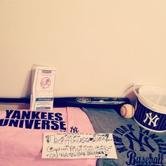 Yankees things. Had got a free Louisville slugger black and gold bat at the yankees game this weekend on July 14th 2013.