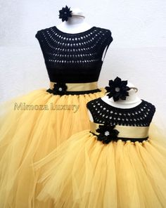 Mother Daughter Matching Dresses Adult tutu dress by MimozaLuxury Red Flower Girl Dresses, Princess Tutu Dresses, Baby Tutu Dresses, Little Girl Dresses, Girls Dresses, Crochet Tutu Dress, Diy Dress, Dress Ideas, Hen Party Dress