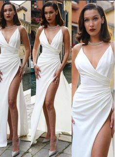 Sexy White V Neck Long Prom Dress, White Evening Dress,Long Formal Gowns,Prom Dresses V Neck Prom Dresses, Sexy Dresses, Bridesmaid Dresses, Wedding Dresses, Dress Prom, Fitted Dresses, Party Dresses, Evening Dress Long, Evening Dresses