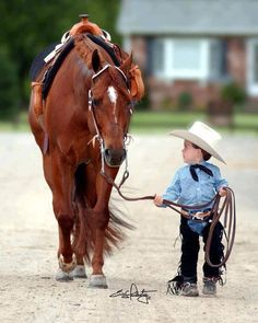 Little Boy and His Horse!
