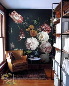 Dark floral removable wallpaper Dutch flowers oil painting Wall mural Still life flowers wall art Dark flowers Dark wall murals Vintage Floral Wallpapers, Dark Flowers, Floral Flowers, Still Life Flowers, Paper Wallpaper, Wall Wallpaper, Trendy Wallpaper, Bathroom Wallpaper, Nature Wallpaper