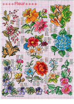 Lots of different flowers #crossstitch  Gallery.ru / Фото #1 - крошки - irisha-ira #cross stitch