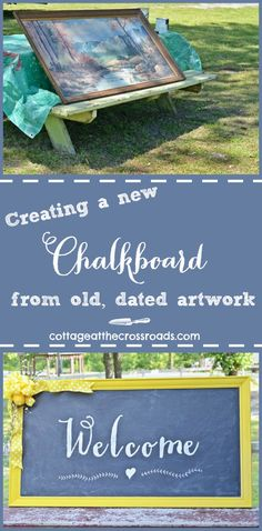 DIY Welcome Chalkboard Sign - Cottage at the Crossroads